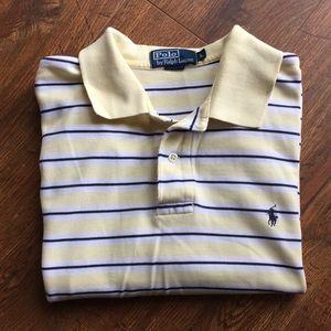 B2G1 UNDER $10 Yellow White Stripe Polo shirt